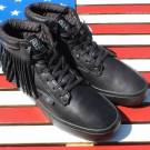 Radii Basic Death Leather Casual Mid Black Skate Shoes Skateboard [FM1084]  $120