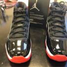 Air jordan 11 black/True red-White